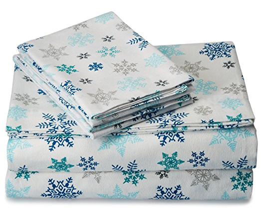 Eddie Bauer Indigo Flannel Sheet Set