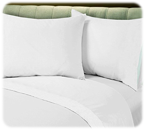 Fitted Best Quality Bed Sheet White T-200 Percale Hotel Linen Christmas Eve Bed Sheets
