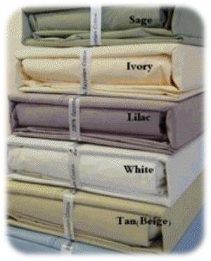 METRO 500TC Percale Solid Bed Sheet Set