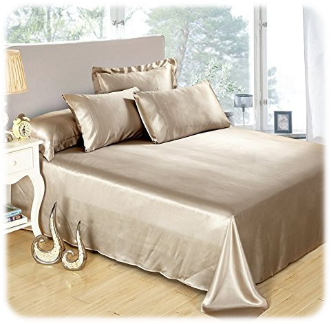 LILYSILK Seamless Luxury Mulberry 25 Momme Silk Bedding Set