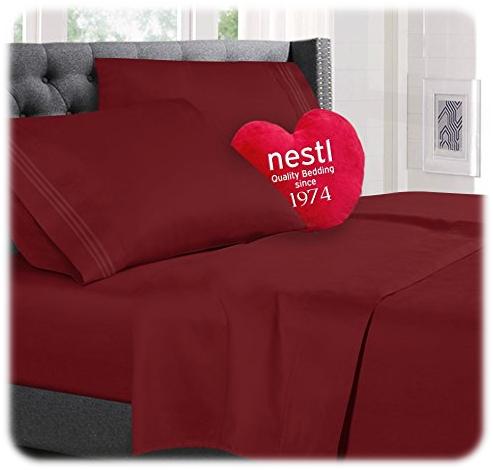 100% Luxury Soft Microfiber, Hypoallergenic, Cool & Breathable Sheet Set by Nestl Bedding