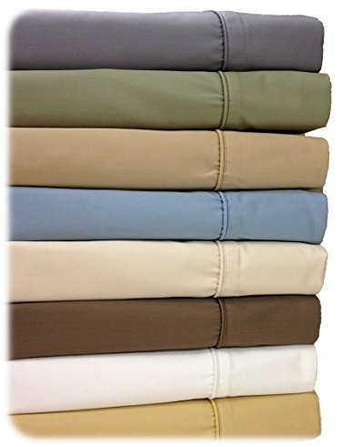 Queen White 650-Thread-Count Sheet Set, Cotton-Blend Wrinkle-Free Sheets