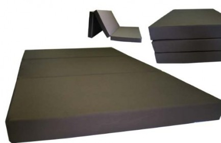 Brand New Brown Shikibuton Trifold Foam Beds