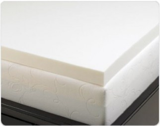 Visco Elastic Memory Foam Mattress Pad Bed Topper, 3 Inch Thick, 4 Pound Density