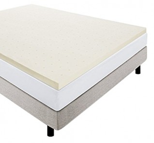 Lucid Linenspa 2 Inch Ventilated Memory Foam Mattress Topper