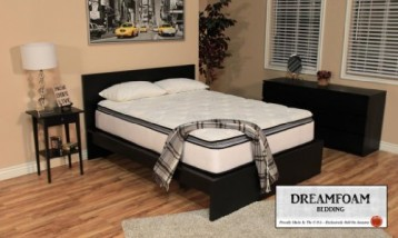 DreamFoam Bedding Ultimate Dreams Pocketed Coil Ultra Plush Pillow Top