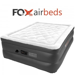 Best Inflatable Bed By Fox Airbeds - Plush High Rise Air Mattress in King, Queen, Full and Twin Xl (Queen)