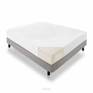 LUCID 10 Inch Plush Memory Foam Mattress