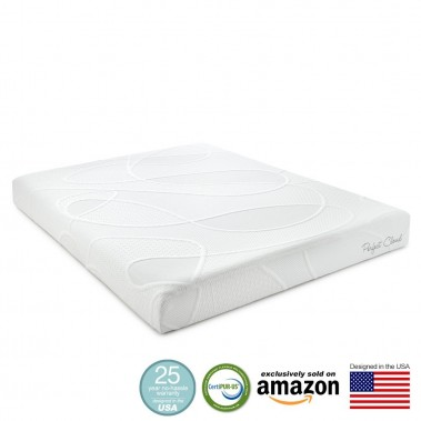 Perfect Cloud Supreme 8 Inch Memory Foam Mattress - Amazon Exclusive Model Featuring New Air Foam Technology - 25 Year Warranty