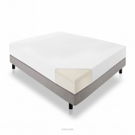 LUCID 10 Inch Latex Foam Mattress - Ventilated Latex and CertiPUR-US Certified Foam - 25-Year Warranty