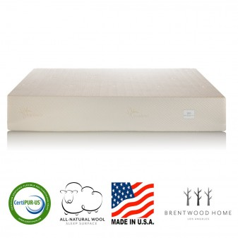 Brentwood Home 13-Inch Gel HD Memory Foam Mattress, Natural Wool Sleep Surface and Bamboo Cover