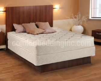 Continental Sleep Mattress, Fully Assembled Mattress with Low Profile Box Spring, Elegant Collection