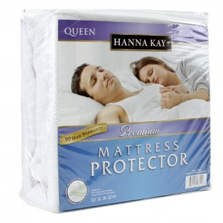 Hanna Kay Premium 100% Waterproof Mattress Protector ,Hypoallergenic - 10 Year Warranty Queens