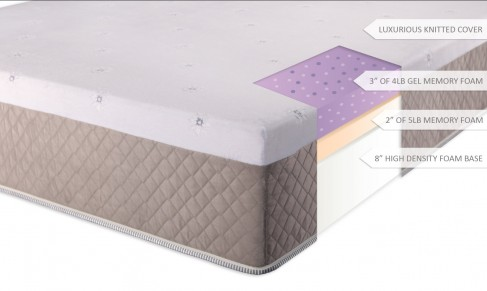 DreamFoam Mattress Ultimate Dreams 13-Inch Gel Memory Foam Mattress