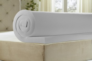 Natures Sleep Cool IQ 2.5 Inch Thick, 4.5 Pound Density Memory Foam Mattress Topper with 18 Inch Fitted Cotton Cover