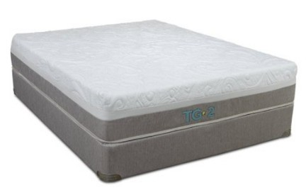 Restonic Denali Mattress and Platform Foundation, King, Natural