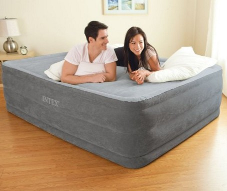 Intex Comfort Plush Elevated Dura-Beam Airbed, Bed Height 22, Queen