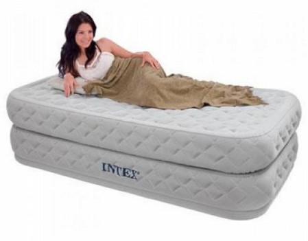 INTEX Twin Supreme Air Flow Bed Raised Airbed Mattress & Pump